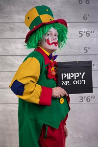 Clown Pippy Kinderclown aus Bochum in Seitenprofil