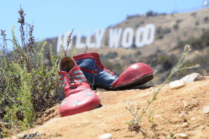 Clown Pippy auf Tour in Hollywood