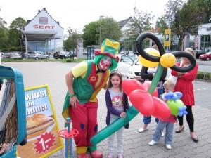 Clown Pippy Show beim Straßenfest in Duisburg