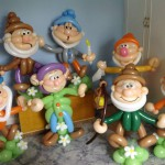 die sieben Zwerge als Ballonfiguren, Geburtstagsgeschenk
